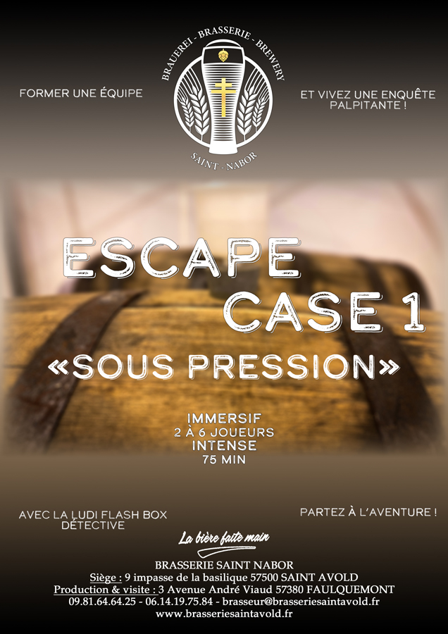 affiche escape case sous pression saint nabor